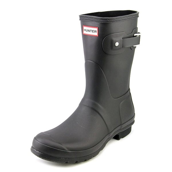 Hunter Original Short Women Round Toe Black Rain Boot