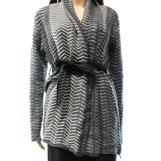 Beatrix.OST NEW Gray Women's Size Medium M Belted Cardigan Sweater