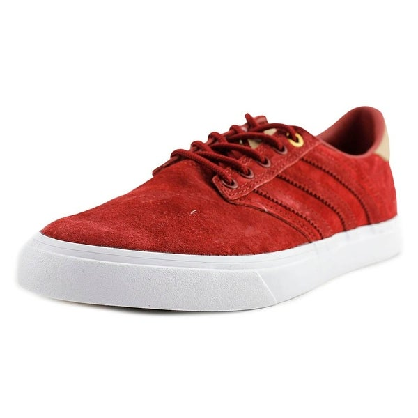 Adidas Seeley Premiere Classified Men Round Toe Suede Red Skate Shoe