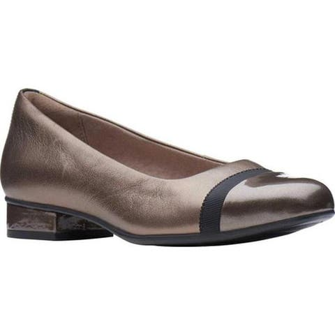 Clarks Women's Juliet Monte Slip-On Pewter Leather
