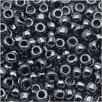Toho Round Seed Beads 6/0 81 'Metallic Hematite' 8g