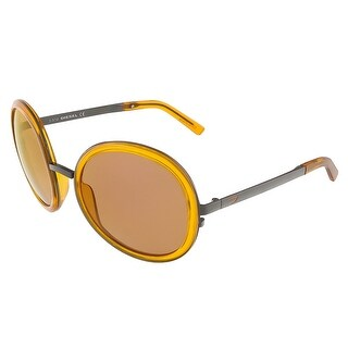 Diesel DL0069/S 42G Translucent Orange Round sunglasses - 57-21-130