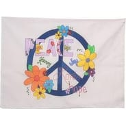 """Peace Sign - Stamped Perle Edge Pillowcase 30""""X20"""""""