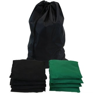 Sunnydaze Green and Black Cornhole Replacement Bean Bags - Set of 8