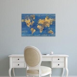 Easy Art Prints Albena Hristova's 'Golden World' Premium Canvas Art