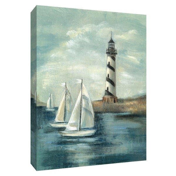 """PTM Images 9-154729 PTM Canvas Collection 10"""" x 8"""" - """"Northeastern Breeze II"""" Giclee Lighthouses and Sailboats Art Print on"""