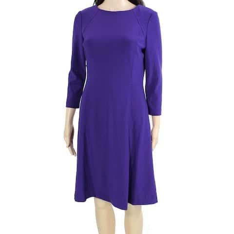 Lauren by Ralph Lauren Women's Dress Real Purple Size 12 A-Line