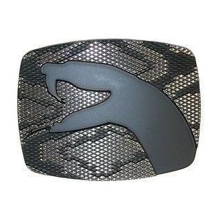 Chrome Snake Bite Belt Buckle - Silver - One Size