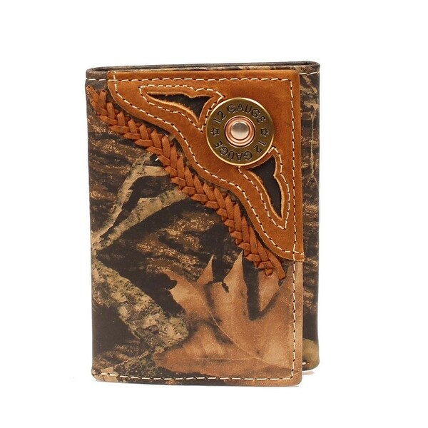 Nocona Western Wallet Mens Trifold Shotgun Shell Bullet Camo - One size