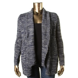 Heather B Womens Marled Open Front Cardigan Sweater