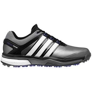 Adidas Men's Adipower Boost Dark Silver Metallic/Running White/Night Flash Golf Shoes Q46922 / Q44633
