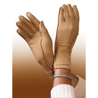 Women's Isotoner Nude Full Finger Compression Gloves