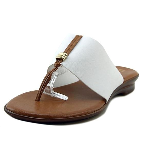 Italian Shoe Makers Sutton Women Open Toe Synthetic White Thong Sandal