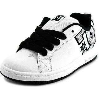 DC Shoes Court Graffik SE Youth  Round Toe Leather White Skate Shoe