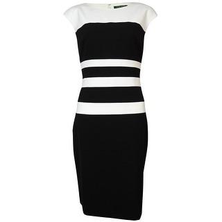 Lauren Ralph Lauren Women's Colorblock Stripe Sheath Dress