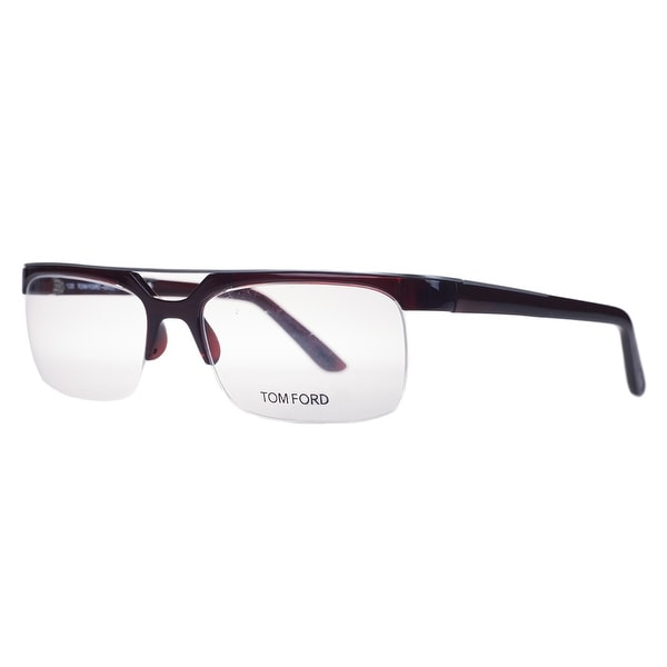 Tom Ford FT 5069V 211 Dark Red Rectangular Optical Frames - DARK RED