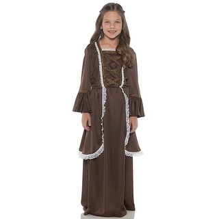 Underwraps Colonial Girl Brown Child Costume