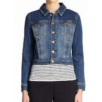 Eileen Fisher Blue Womens Size Large L Cropped Denim Jacket
