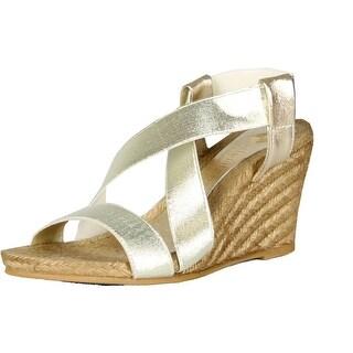 Eric Michael Womens Elena Espadrille Strappy Sandals - Gold - 36 m eu / 5.5-6 b(m) us