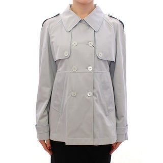Dolce & Gabbana Blue Formal Dress Trench Jacket Coat - it44-l