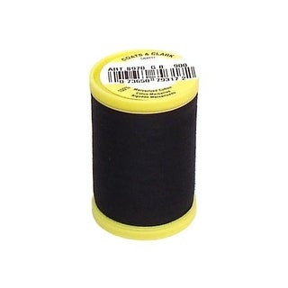 S970 0900 Coats All Purpose Cotton Thread 225yd Black