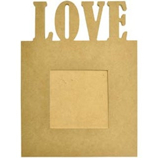"""7.5""""X10""""X.5""""; 4""""X4"""" Opening - Beyond The Page Mdf Love Frame"""