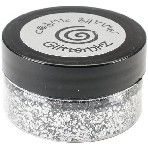 Cosmic Shimmer Glitterbitz 25Ml-Silver Chrome