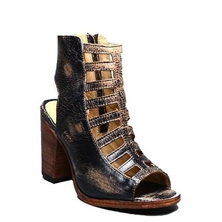 BedStu Women's Occam Black Lux Leather Sandal
