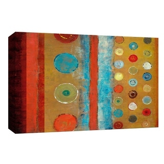 """PTM Images 9-147959  PTM Canvas Collection 8"""" x 10"""" - """"Circles, Earth & Sky"""" Giclee Abstract Art Print on Canvas"""