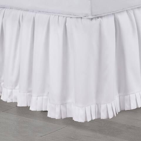 Martex Micro Ruffle White Bed Skirt
