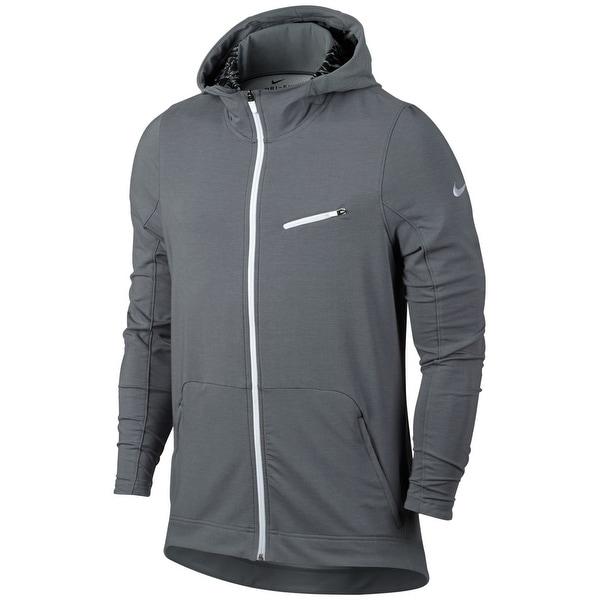 brand new e2552 fd97d Nike NEW Cool Gray Mens Size 2XL Sphere-Dry Elite Full Zip Sweater