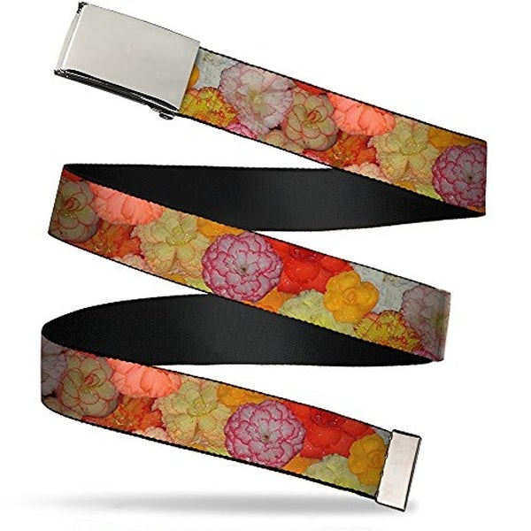 """Buckle-Down Web Belt Floral 1.5"""""""