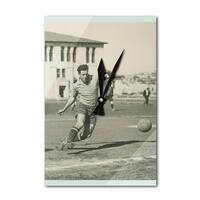Soccer - Vintage Photo (Acrylic Wall Clock) - acrylic wall clock