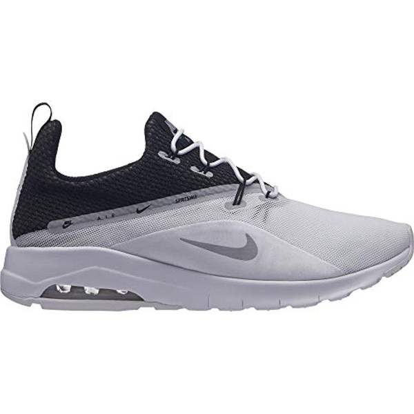 ba134c72d7164 Shop Nike Men s Air Max Motion Racer 2 Running Shoe White Wolf Grey Black - Free  Shipping Today - Overstock - 27121500