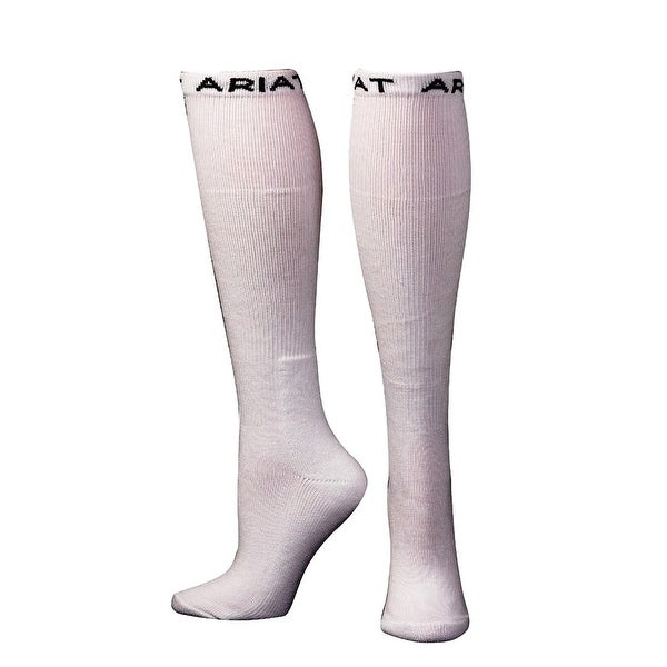 Ariat Socks Mens Over the Calf Cushion Reinforced White - L