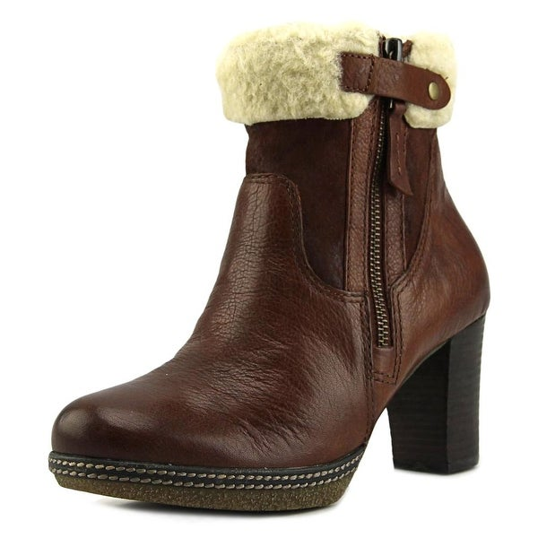 Gabor 92.872 Women W Round Toe Leather Brown Ankle Boot