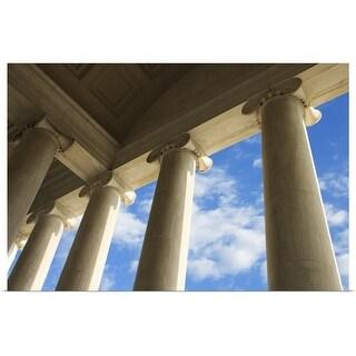 """Columns on Jefferson Memorial, Washington, DC"" Poster Print"