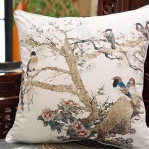"""Luxury White Bird Printing Pillow 20""""X20"""""""