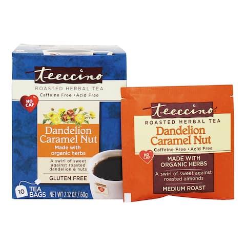 Teeccino - Dandelion Caffeine Free Roasted Herbal Tea Caramel Nut - 10