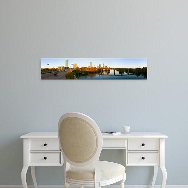 Easy Art Prints Panoramic Image 'Skyscrapers in a city, Lamar Street Pedestrian Bridge, Austin, Texas, USA' Canvas Art
