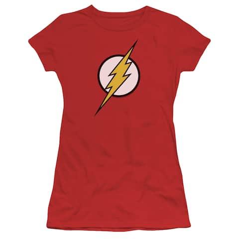 Justice League Flash Logo Juniors Short Sleeve Shirt