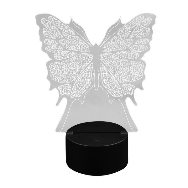 DC 5V Butterfly Shape 3D Acrylic LED Night Light Touch Switch Desk Table  Lamp