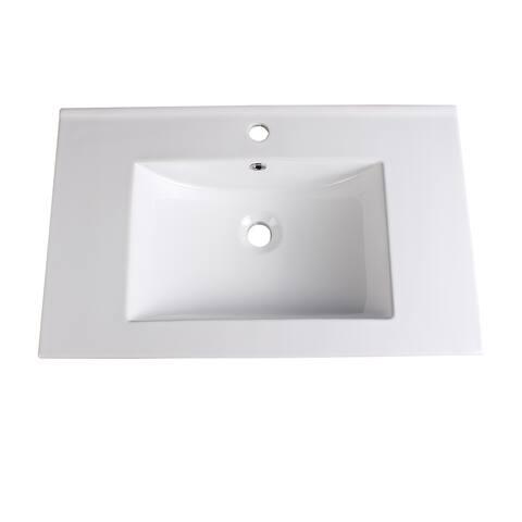 "Fresca Torino 30"" White Integrated Sink / Countertop"