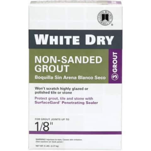 Custom WDG5-4 White Dry Non-Sanded Grout, 5 Lb