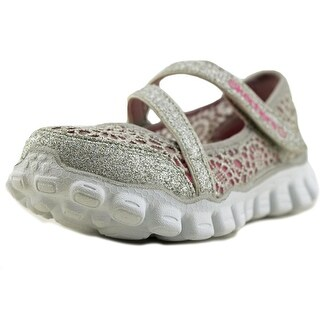 Skechers Lil Sweetpea Youth Round Toe Canvas Silver Loafer