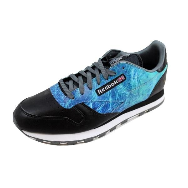 93876773346 ... Men s Athletic Shoes. Reebok Men  x27 s Classic Leather AFH  Black Alloy-Gold Metallic-