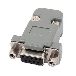 DB9 9 Pins 2 Rows Female Converter Connector Adapter w Plastic Housing Shell