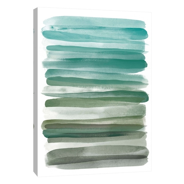"""PTM Images 9-109083 PTM Canvas Collection 10"""" x 8"""" - """"Watercolor Stripes A"""" Giclee Abstract Art Print on Canvas"""