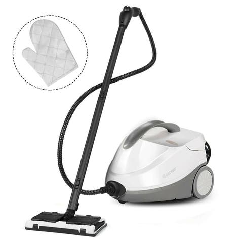 Costway Heavy Duty Steam Cleaner Mop Multi-Purpose Steam Cleaning 4.5 Bar 2000Watt 1.5L - Grey+white - Modern & Contemporary