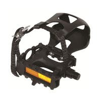Evo E-Sport AT Resin 9/16 inch ATB/Recreational Bicycle Pedals with Toe Clips and Straps - Pair - YH-28X